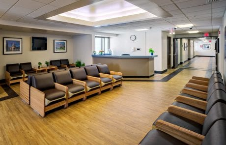 Friends Hospital facility image interior waiting room